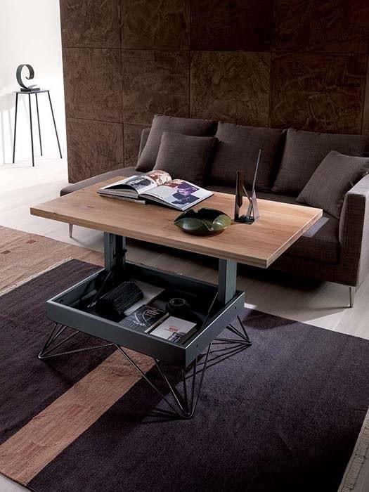 Table Basse Transformable Radius Rectangulaire Ozzio