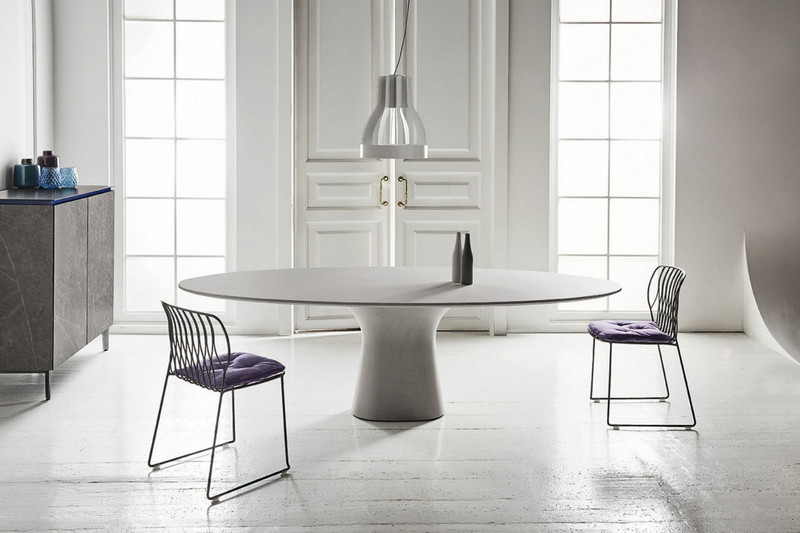 table ovale podium bontempi casa espace steiner design contemporain. Black Bedroom Furniture Sets. Home Design Ideas