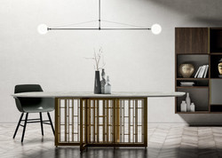 Table Repas MASTERTABLE Ovale Dall Agnese Design Contemporain Caen