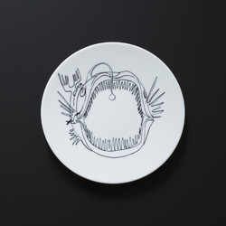 Assiette POISSON Prédateurs Extranorm Design Contemporain Caen