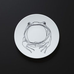 Assiette GRENOUILLE Prédateurs Extranorm Design Contemporain Caen