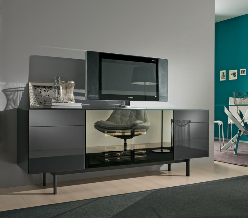 aly bahut tv bontempi casa espace steiner design contemporain. Black Bedroom Furniture Sets. Home Design Ideas