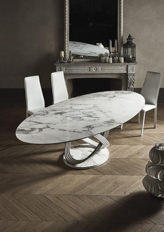 Table Ovale Fusion Bontempi Casa Espace Steiner Design Contemporain