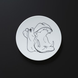 Assiette RHINOCEROS Prédateurs Extranorm Design Contemporain Caen